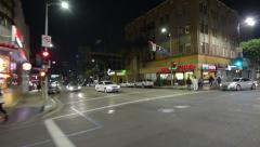 Driving Plates Multi Angle Hollywood Night 04 CAM4 3/4 R Hollywood Highland 60fp Stock Footage
