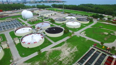 Virginia Key Sewage Treatment Plant 4 Stock Footage