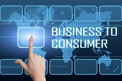 Business to Consumer Stock Illustration