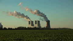 Coal fired power plant - stock footage