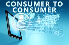 Stock Illustration of Consumer to Consumer
