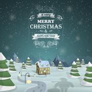 Stock Illustration of Christmas Eve background vector illustration.