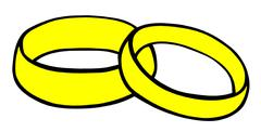 Wedding Rings Stock Illustration