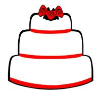 Wedding Cake Stock Illustration