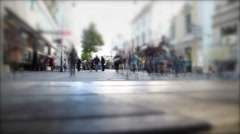 Untitled Projpeople walking on the busy street , rush hour and shopping day , Stock Footage