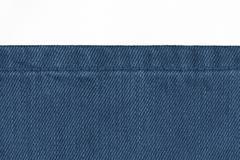 Jeans background on white Stock Photos
