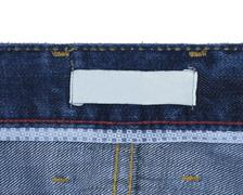 jeans back tag - stock photo