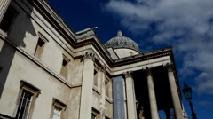 National Gallery Timelapse. Trafalgar Square . London Stock Footage