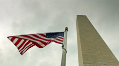 American flag Washington DC Stock Footage