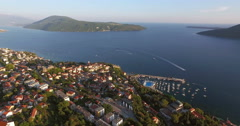 Adriatic Sea in summer day, Herceg Novi Enterance to Bay of Kotor, Montenegro Stock Footage