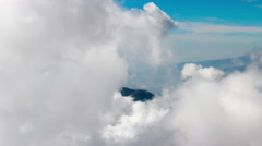 Clouds Formation over the Mountain Timelapse - stock footage