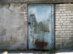 Old metal door Stock Photos