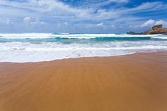 Atlantic ocean beach - stock photo