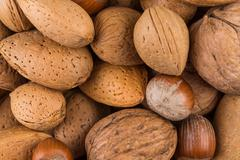 Variety of Mixed Nuts - stock photo