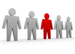 Stock Illustration of Individuality - stand out of a crowd