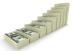 Stock Illustration of Money stack. Business concepts