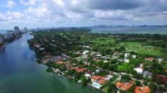 Panoramic video of Miami Beach aerial footage Stock Footage