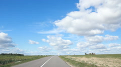 clouds,blue sky I field - stock footage