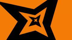 Abstract background of orange black burst Stock Footage
