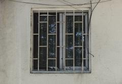 old window with wall - stock photo