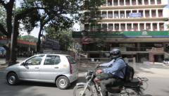 Driving on Bangalore Roads - stock footage