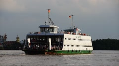 Cat Lai ferry in southern Vietnam in Saigon Stock Footage