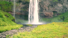 ecologic ambient and natural waterfalls, slider movement - stock footage