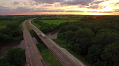 Aerial Iowa Countryside - stock footage