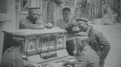 Man with German soldiers Stock Footage