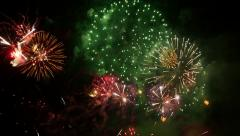 Fireworks. Holiday celebration. Stock Footage