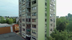 Block of flats in a city Stock Footage