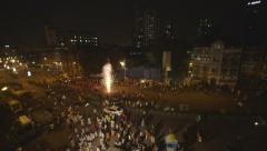 Mumbai Street during Diwali Festival Stock Footage