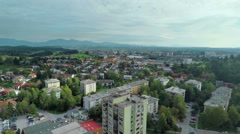 Stunning small town and its tall buildings Stock Footage