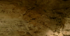 A subterranean lake in a limestone cave - stock footage