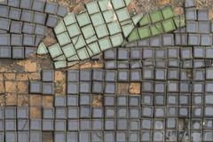Broken Tiles - stock photo