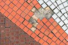 Stock Photo of Broken Tiles