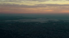 Italian large city from high place at the evening Stock Footage