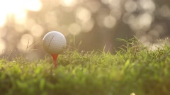 Golf Ball being hit Stock Footage