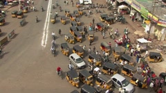 Street view from Charminar Stock Footage