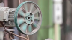 Spinning Machine Close Up Stock Footage