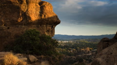 San Fernando Valley Seen from the Garden of the Gods (4K) Stock Footage