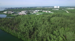 Aerial video Oleta Miami and Biscayne Bay 6 - stock footage