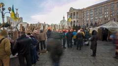 Kiev, Ukraine/December 2013. Maidan Nezalezhnosti time lapse Stock Footage