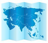 Asia map Stock Illustration