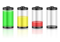 battery set - stock illustration