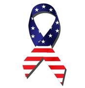 American Flag Ribbon - stock illustration