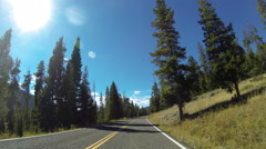 Driving POV, Yellowstone National Park Stock Footage