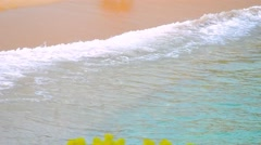 walking on a tropical beach - stock footage