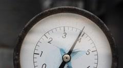 Pressure gauge Stock Footage