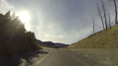 Driving, POV, Yellowstone National Park Stock Footage